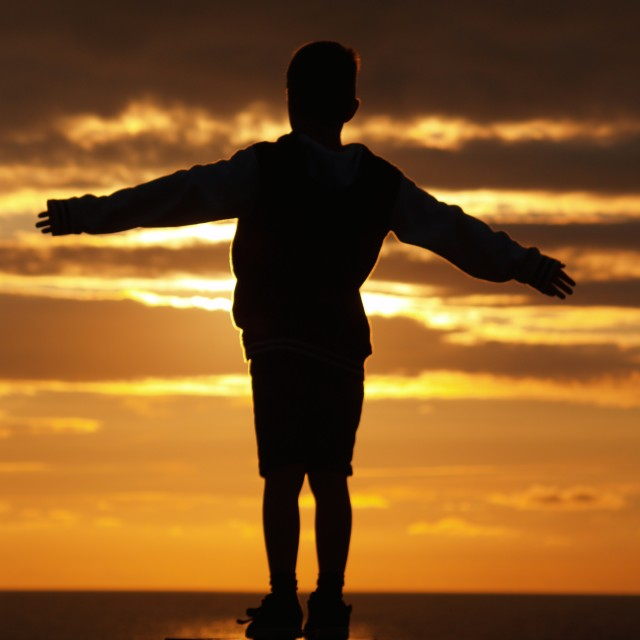 """Silhouette Boy"" stock image"