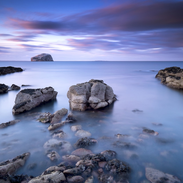 """Bass Rock Sunset"" stock image"