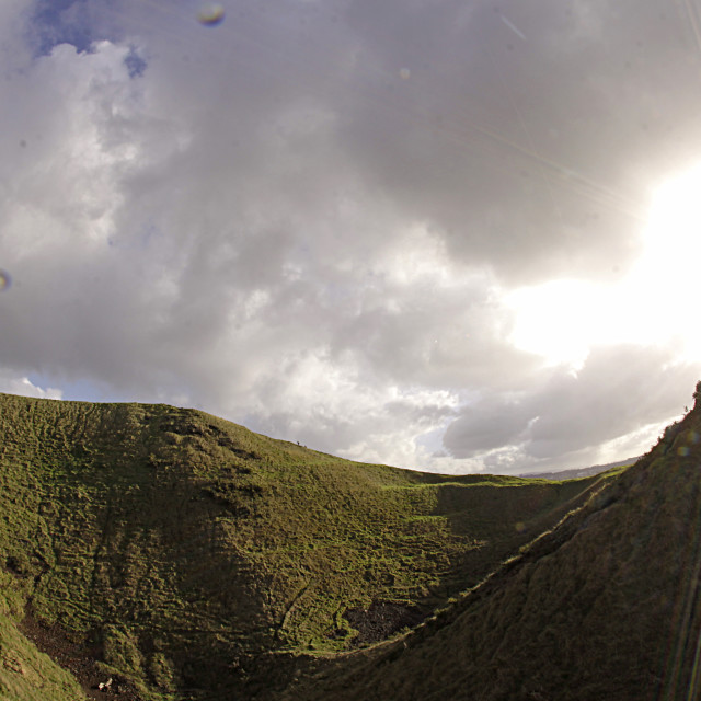 """Crater of Mount Eden in Auckland"" stock image"
