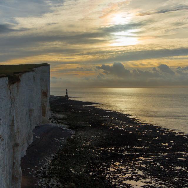 """Sunrise over Beachy Head"" stock image"