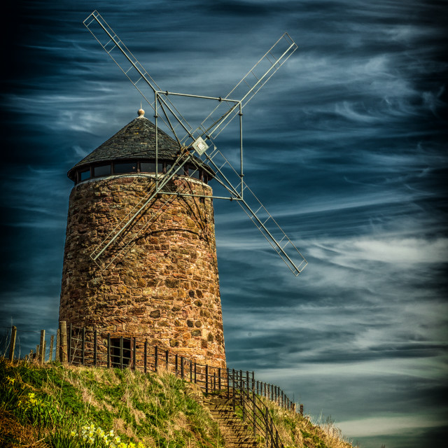 """The Windmill at St Monans, Fife,Scotland"" stock image"