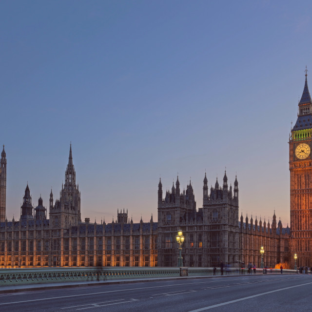 """Sunset over Westminster"" stock image"