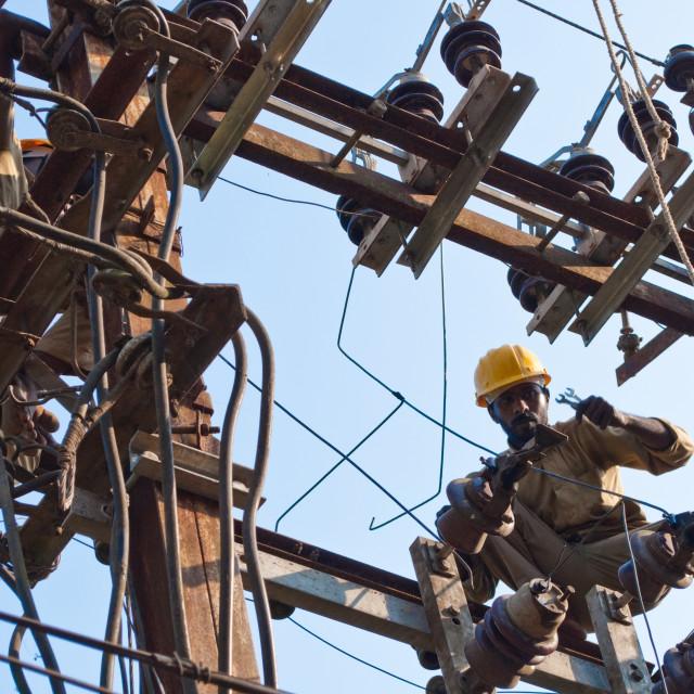 """Dangerous jobs"" stock image"