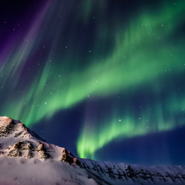 """Northern lights in the Arctic"" stock image"