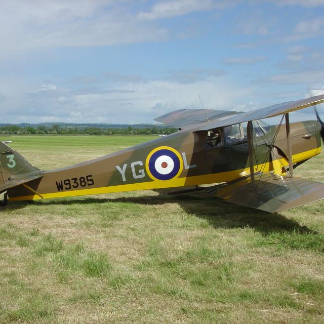 """de Havilland DH87B Hornet Moth"" stock image"