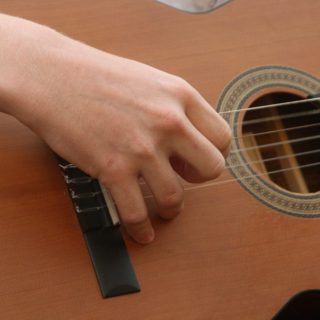"""Guitar playing"" stock image"