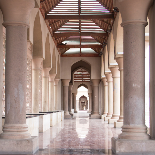 """""""Colonnade - Muscat, Oman"""" stock image"""