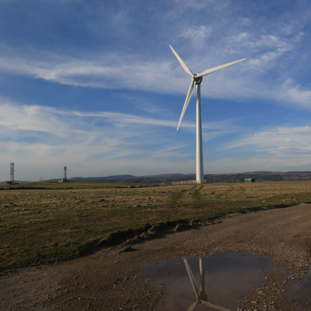 """Wind Turbine, Wales, UK"" stock image"