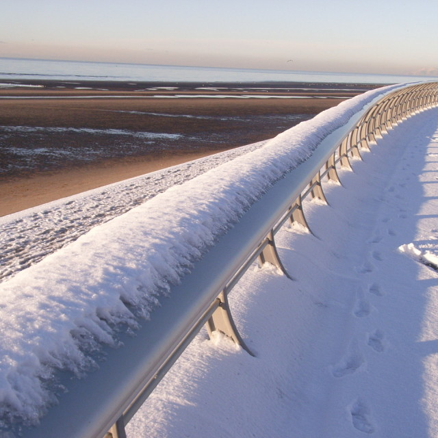 """snow on the prom"" stock image"