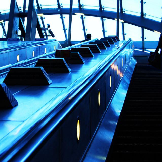 """Canary Wharf Station."" stock image"