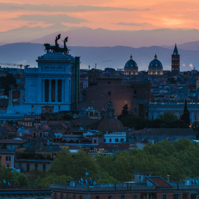 """Sunrise in Rome"" stock image"