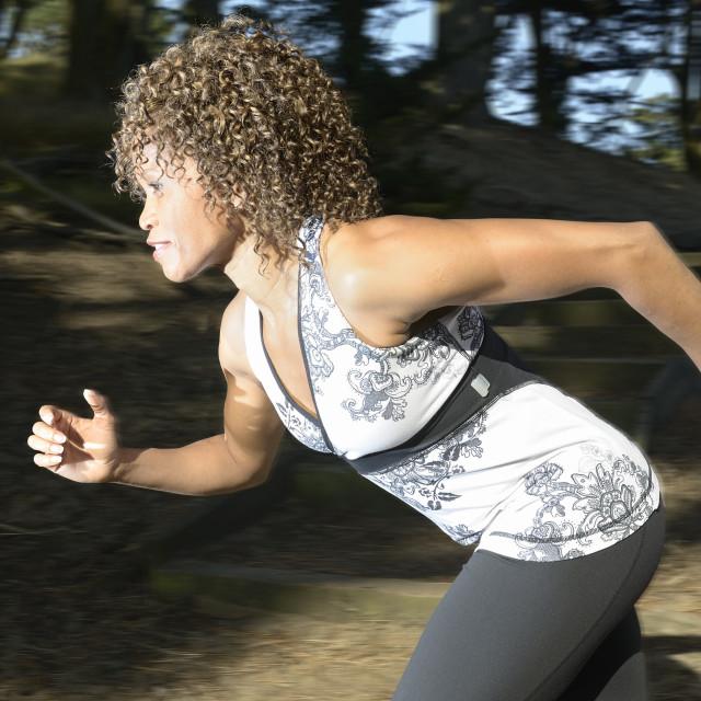"""Woman running"" stock image"