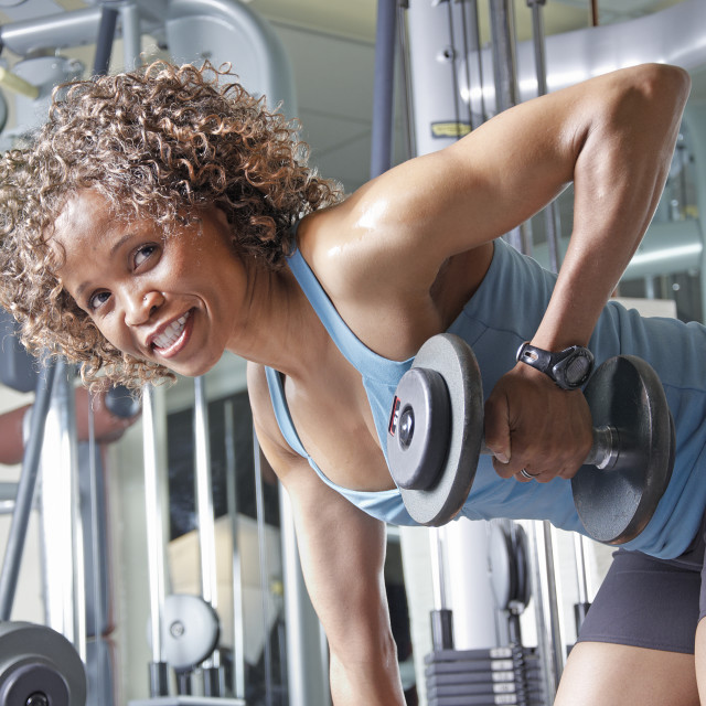 """Woman working out"" stock image"