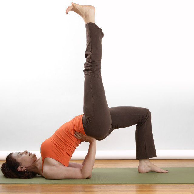 """Woman doing yoga"" stock image"