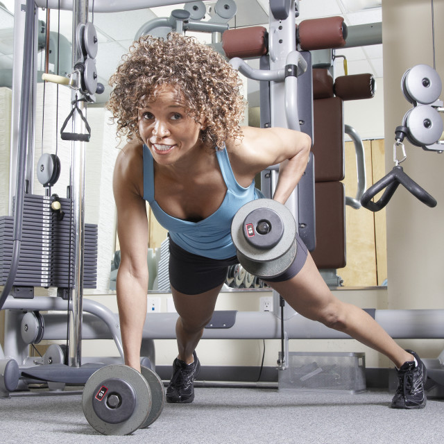 """Woman at the gym"" stock image"