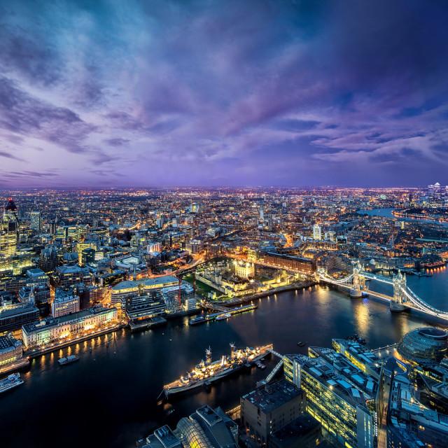 """London - Birds Eye View"" stock image"