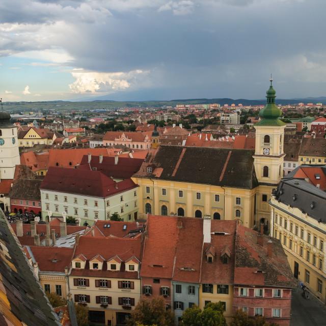 """""""Sibiu, Romania"""" stock image"""