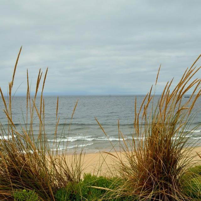 """Beach in Vila do Conde. Portugal."" stock image"