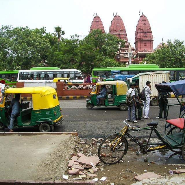 """""""Transport in Delhi"""" stock image"""