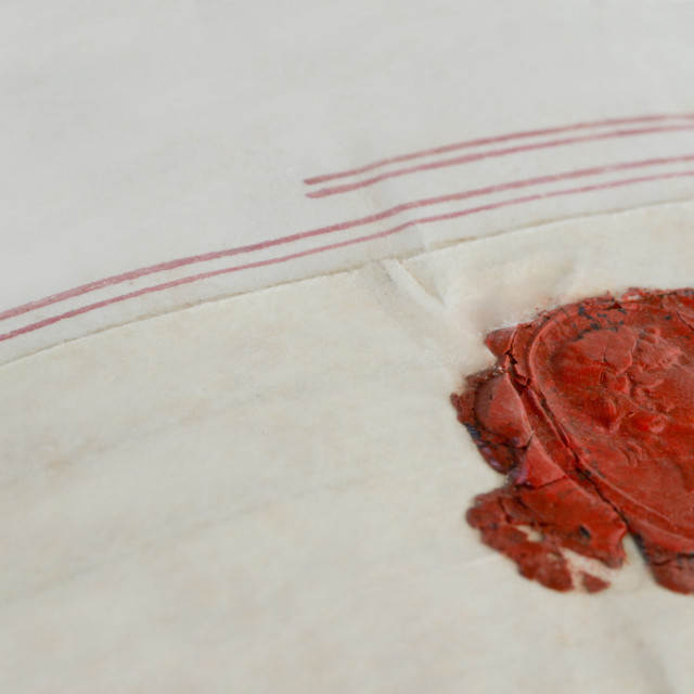 """wax seal, 17th century"" stock image"