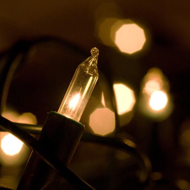 """Fairy lights"" stock image"