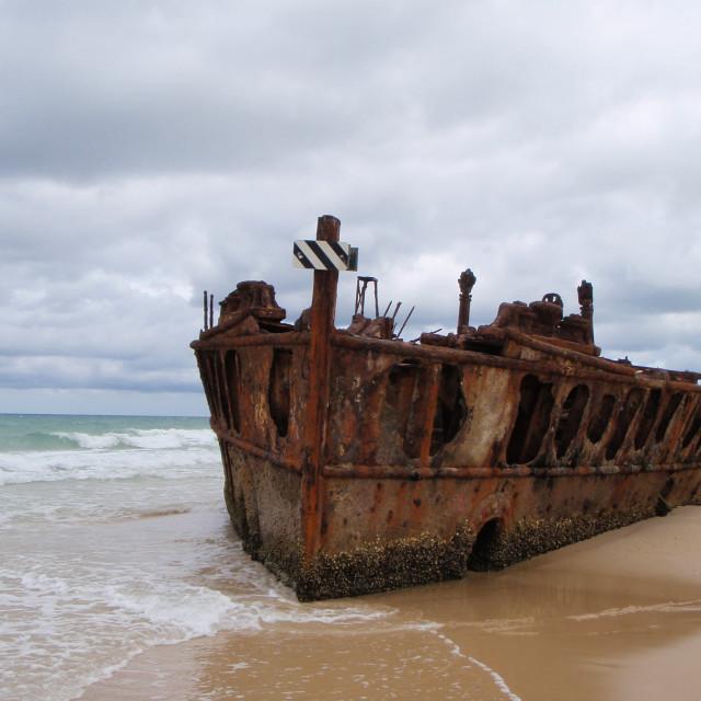 """The Maheno shipwrek"" stock image"