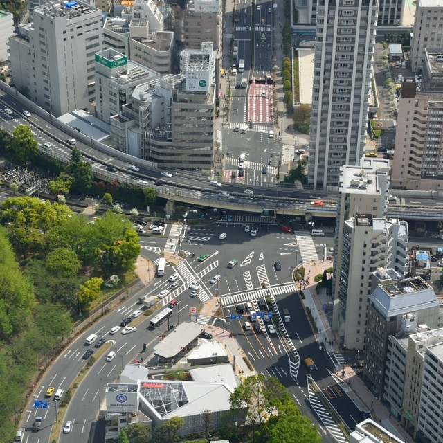 """View from Tokyo Tower IV"" stock image"