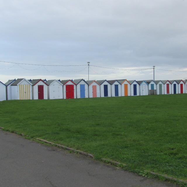 """Paignton Beach Huts"" stock image"