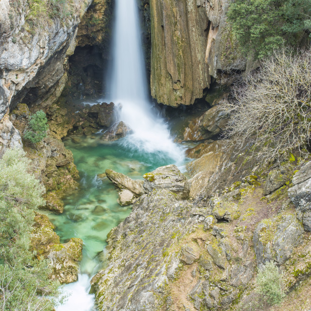 """Waterfall in Andalusia"" stock image"