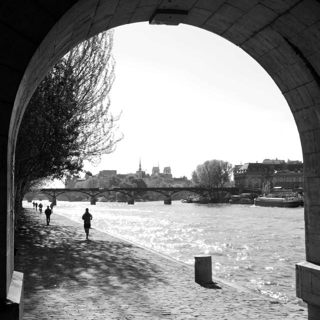 """Quai du Louvre"" stock image"