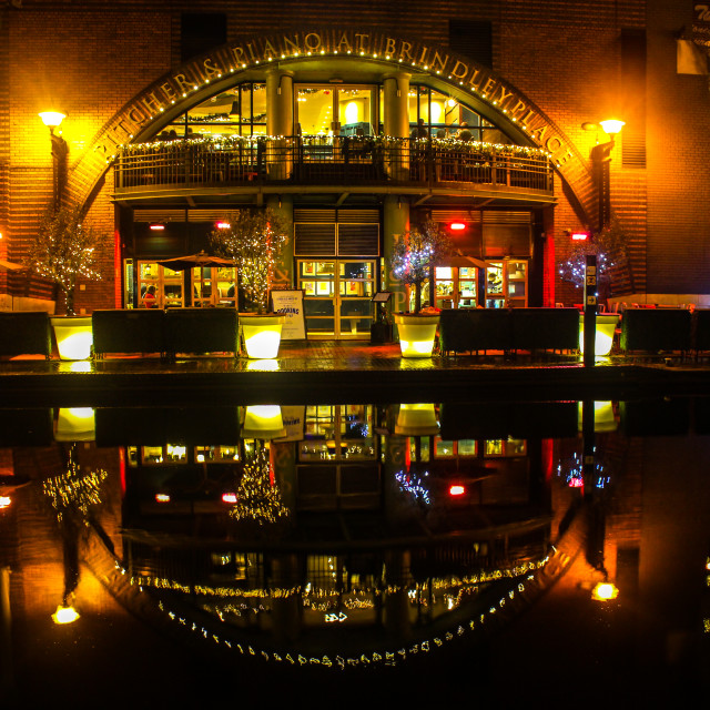 """""""Canal at night"""" stock image"""