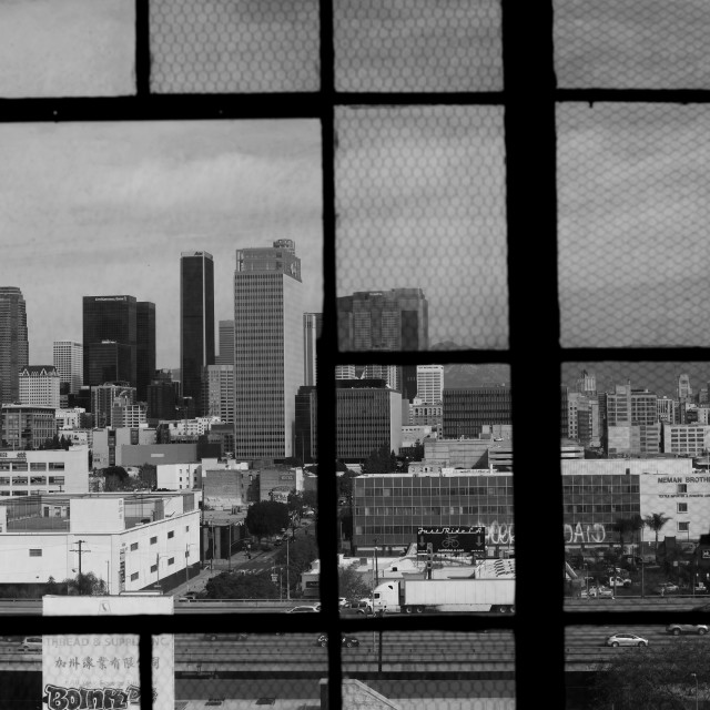 """Downtown LA Window"" stock image"