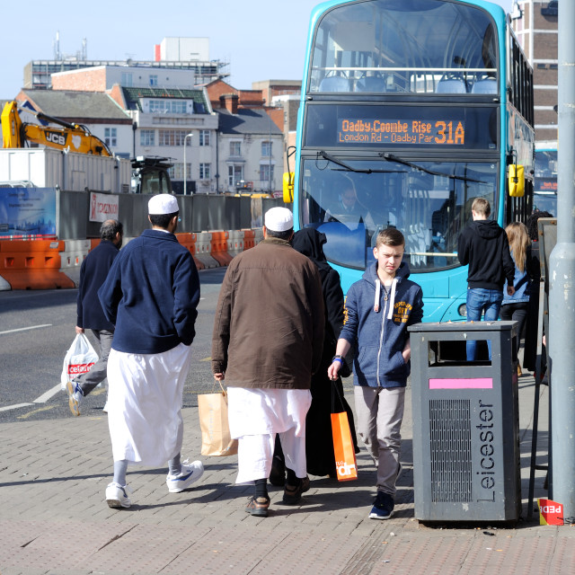 """""""Leicester Bus Station ."""" stock image"""