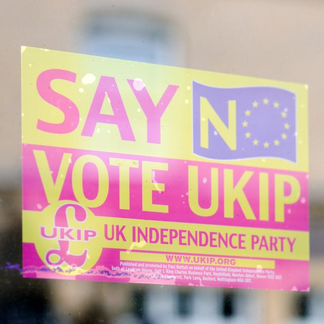 """Election 2015 UKIP Poster"" stock image"