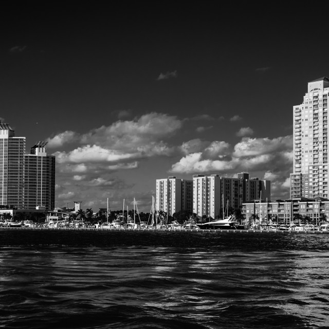 """Miami Beach area in Monotone"" stock image"