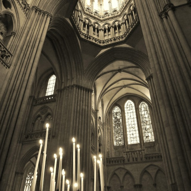 """Coutances Cathedral"" stock image"