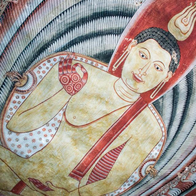 """Dambulla Buddha"" stock image"