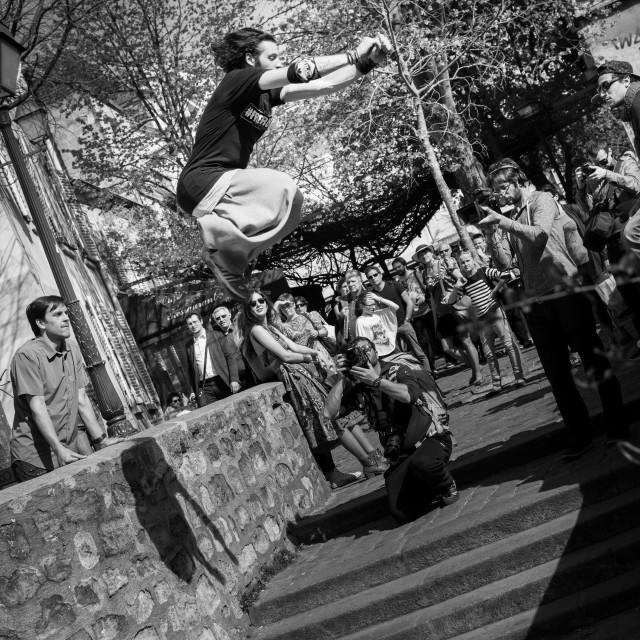"""Freerunning Montmartre, Paris"" stock image"
