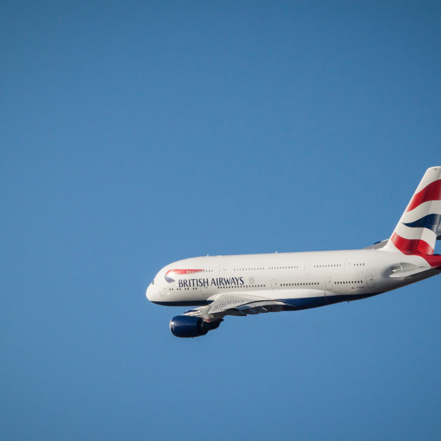 """""""BA A380 #1"""" stock image"""