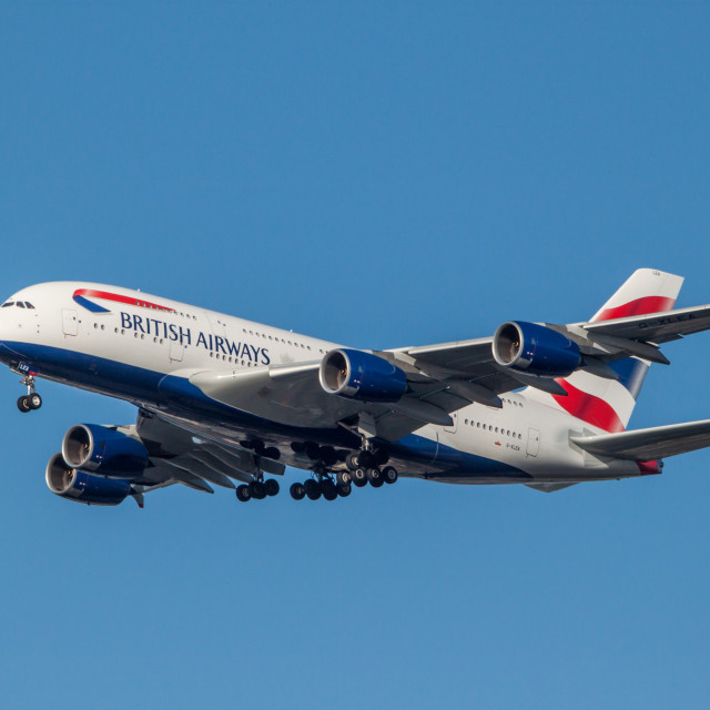 """""""BA A380 #2"""" stock image"""