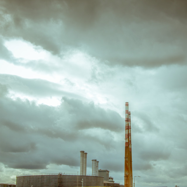 """Poolbeg Power Station"" stock image"