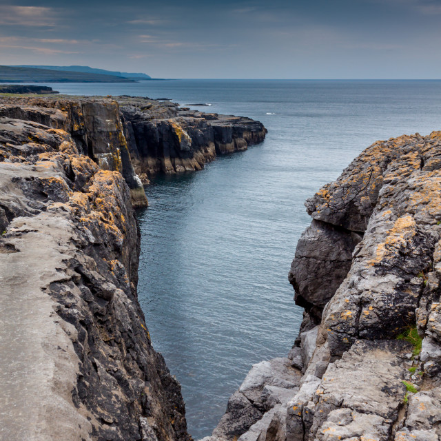 """Galway Cliff"" stock image"