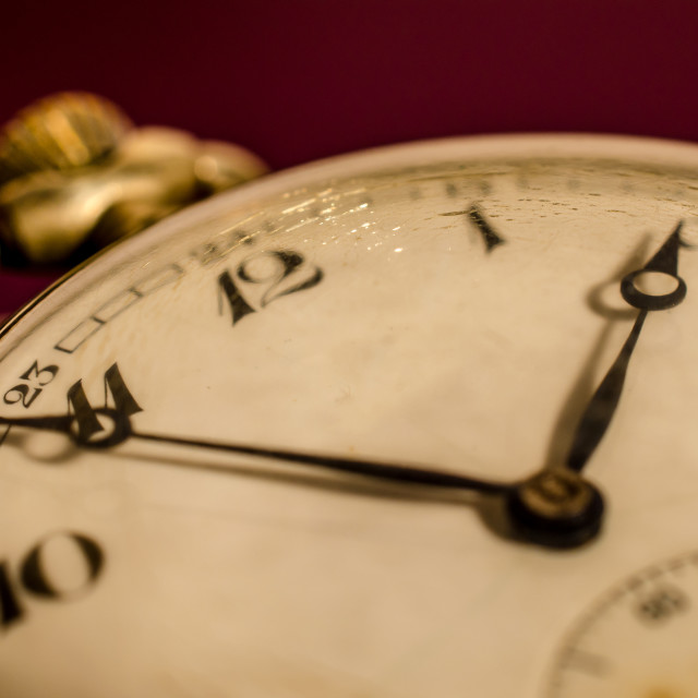 """""""Macro photography of an old pocket watch."""" stock image"""