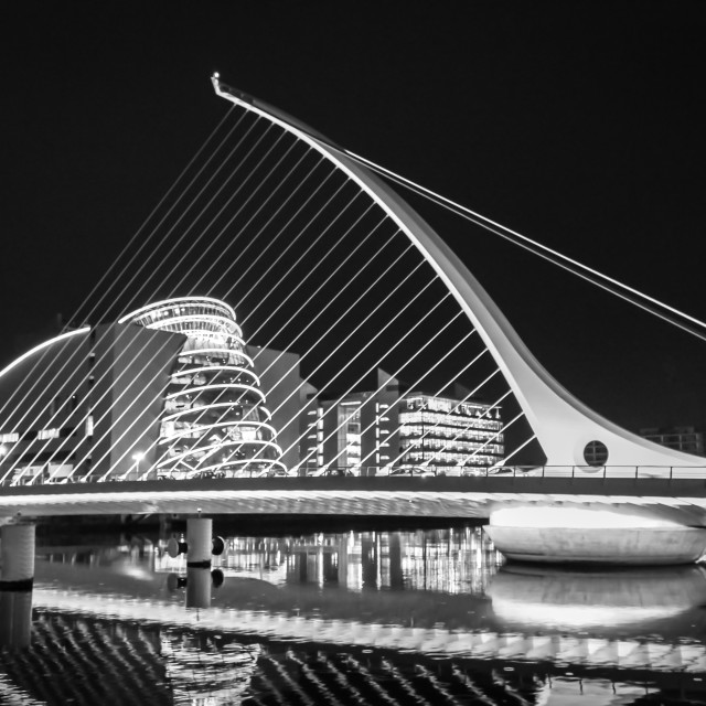 """Beckett Bridge B&W"" stock image"