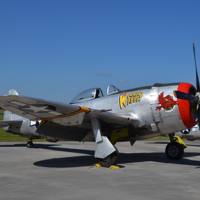 """Republic P-47D Thunderbolt"" stock image"