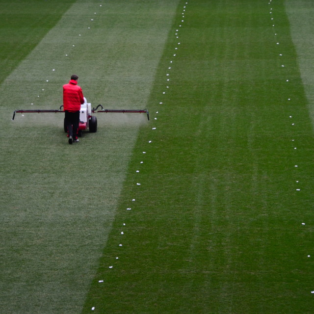"""Pitch Maintenance"" stock image"