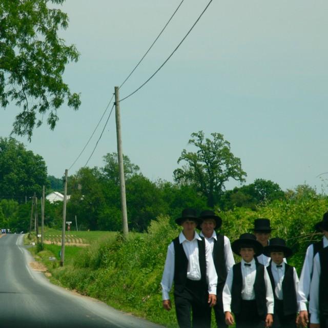 """""""Amish boys"""" stock image"""