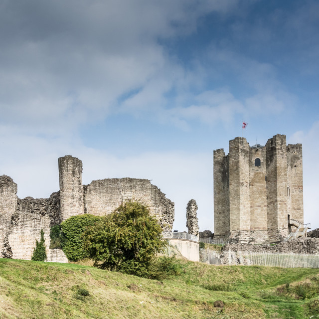"""Conisbrough Castle Morning"" stock image"