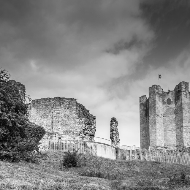 """Clouds over Conisbrough Castle"" stock image"