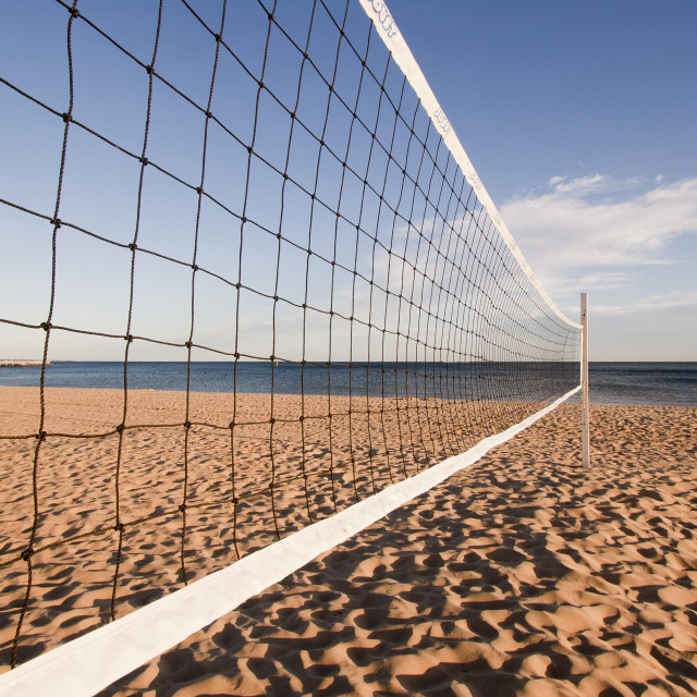 """Beach volleyball net"" stock image"